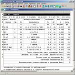 Сводные и подробные итоги расчетов, касающиеся помещений